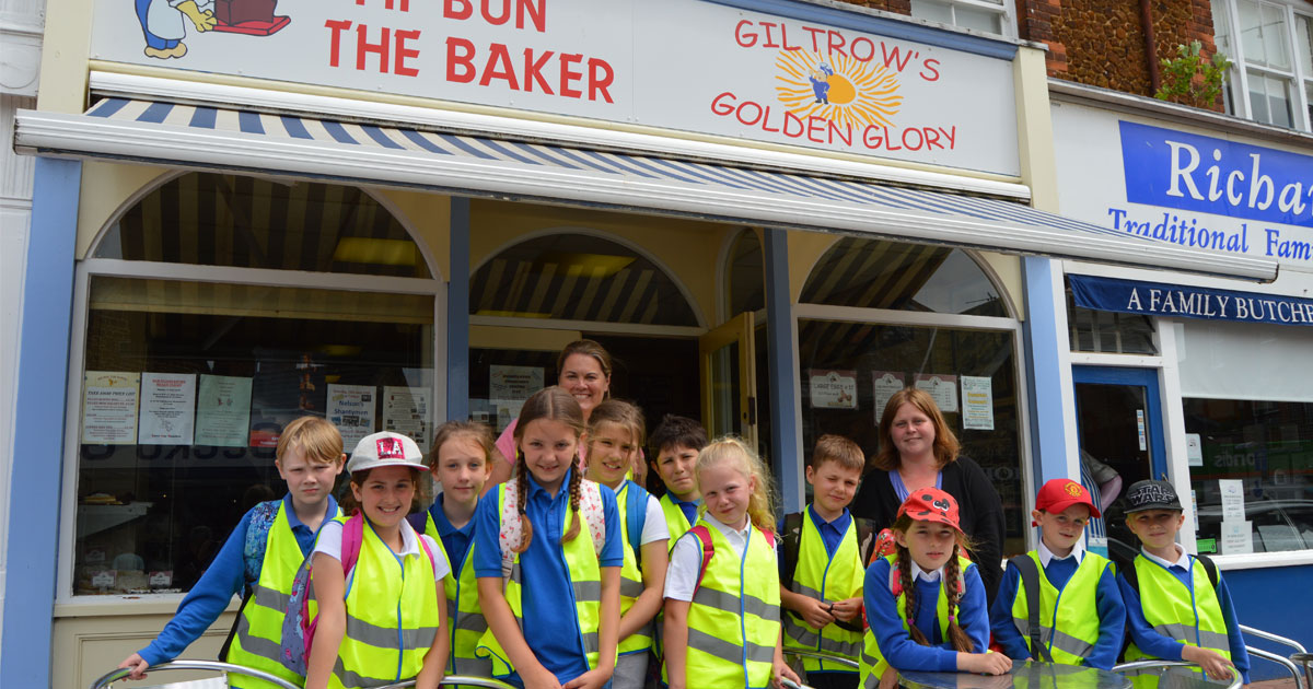 Visit to Mr Bun the Baker is the cherry on the top for local schoolchildren