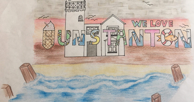15 year old Zerrin Mitchell wins the  Go Local – Love Hunstanton Logo Competition