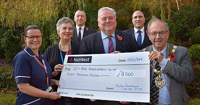 QE Hospital Children Bereavement Suite Fund receives £8,000 donation