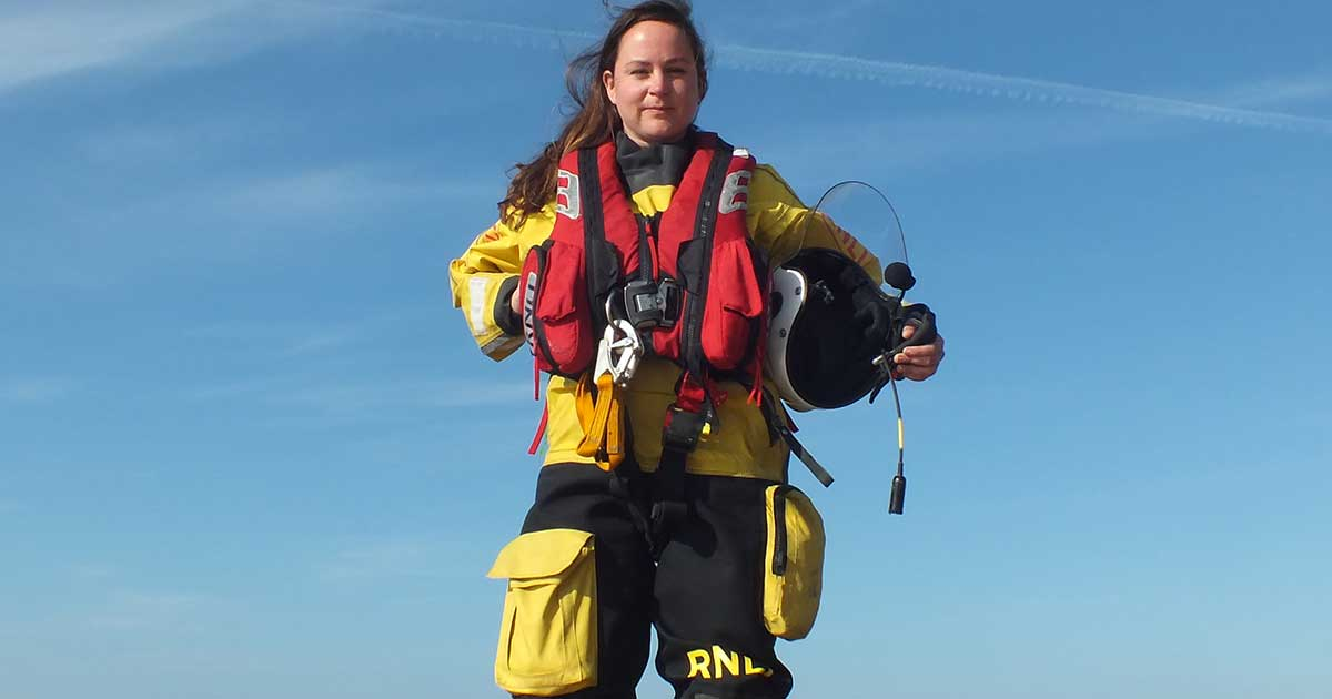 First female Hovercraft Commander at RNLI Hunstanton