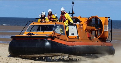 Rescued: Lilo with two people drifting two miles out to sea