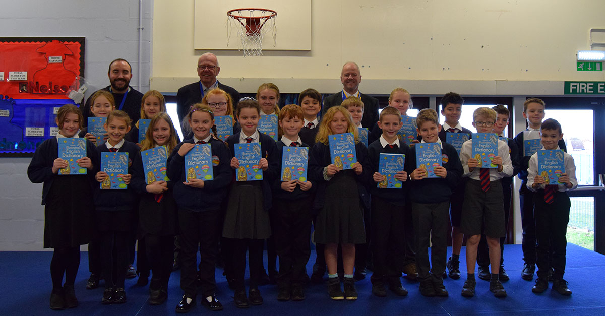 Gift of dictionaries for Hunstanton pupils