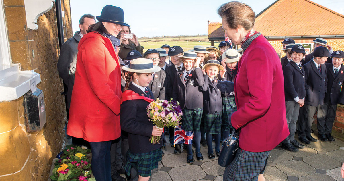 Princess Anne visits Save the Children