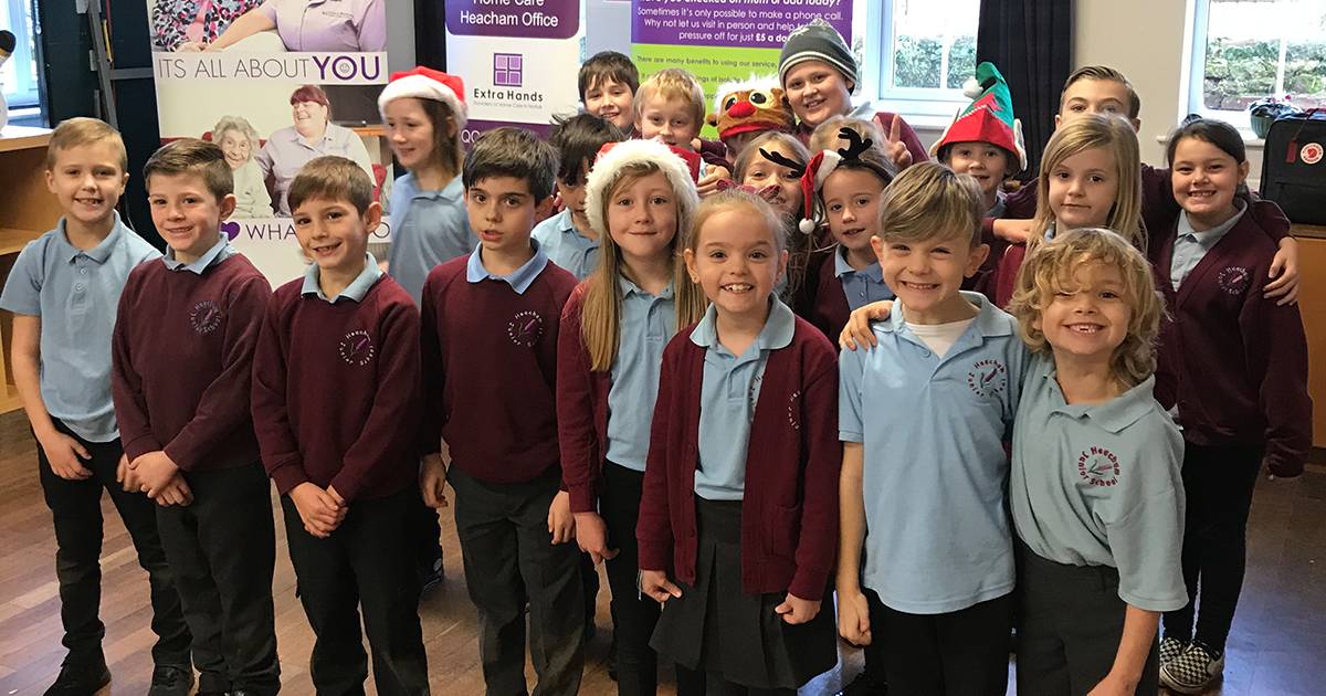 Heacham care company and schoolchildren bring festive cheer