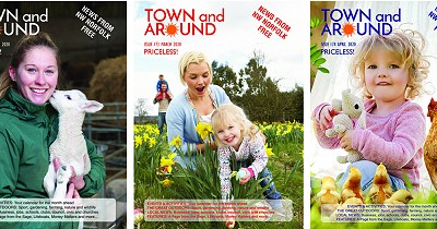 News about Town and Around magazine distribution